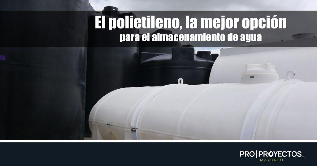 El polietileno, la mejor opción para el almacenamiento de agua.
